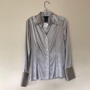 Silver Bebe silk dress shirt